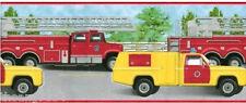 Bright Red Yellow Fire Truck Paramedic Emergency Ladder Boy Kid Wallpaper Border