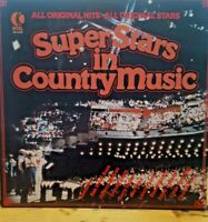 K-Tel 1978 ~ SuperStars In Country Music ~ Various Artists, 70s Vinyl Record