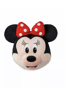 Disney Minnie Mouse Face Plush 16in Pillow New with Tag