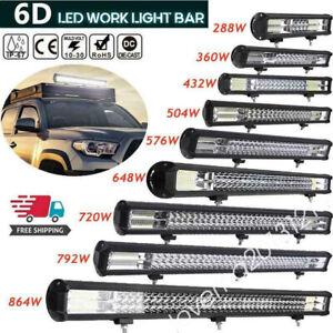 648W LED Work Light Bar Flood Spot Lights Driving Lamp Offroad Car Truck SUV MF