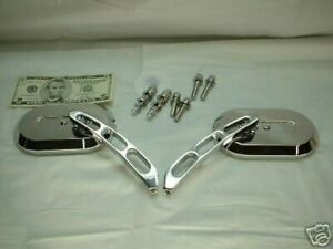 Chrome Oval Mirrors for Harley Sportster Softail Dyna Touring Chopper