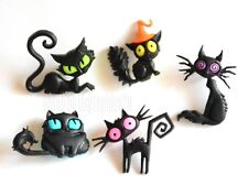 Creeped Out Cats / Jesse James Dress It Up Halloween Collection / Black Cats