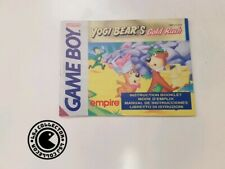 Yogi bear's - gameboy - nintendo - notice EUR