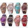 Women Diamond Watch Analog Leather Stainless Steel Quartz Wrist Watches