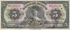 Mexico: $5 Pesos La Gitana 3 de Sep, 1947 Banco de Mexico Circulated Note.