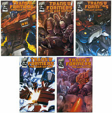 Lot Of 5 Transformers War Within Comics; Dreamwave,1 2 3 4 5