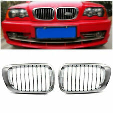 Chrome Front Kidney Grill Grille For BMW E46 M3 325Ci 330Ci 328i 2Door 99-03 FS