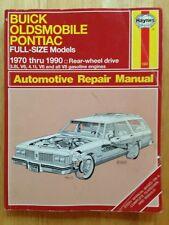 1970 1971 1972 - 1986 1987 1988 1989 1990 BUICK OLDSMOBILE PONTIAC REPAIR MANUAL