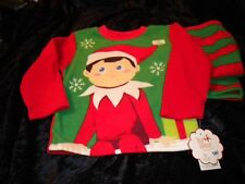 NWT Elf On Shelf Boys Size 4 Flame Resistant PJS Red & Green 2 Pieces CHRISTMAS