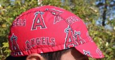 CYCLING CAP MLB  ANGELS   100% COTTON HANDMADE IN USA