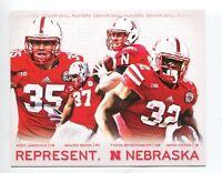 2015 Nebraska Cornhuskers Football Pocket Schedule Adidas cards -> You Pick 'em