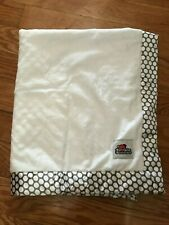 "Rumple Buddies Plush Baby Security Blanket  White Polka Dot 33""x27"" EUC"