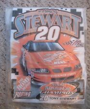 """TONY STEWART 2002 WINSTON CUP CHAMPION GOLF/RALLY TOWEL 11"""" x 18"""" NEW IN PACKAGE"""