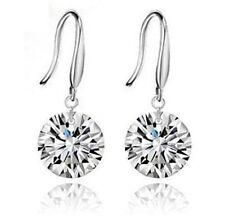 Drop/Dangle Silver Crystal Gem Round Earrings