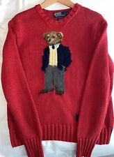 Polo Ralph Lauren Vintage Executive Bear Sweater RL01 Size: Small Kanye West