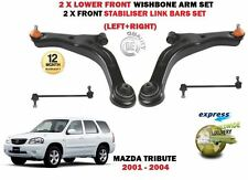 FOR MAZDA TRIBUTE 2000-2004 2 X FRONT WISHBONE ARMS SET + 2 STABILISER LINK BARS