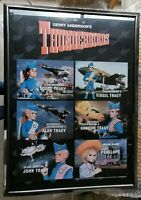 Gerry Anderson Rare THUNDERBIRDS Signed Autograph Poster A1 Framed