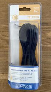 Anschlusskabel Schwaiger Telefon TAL 6236 TAE N schwarz 6 m