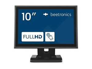 """Beetronics 10"""" Touch Screen Monitor 10TS7M - Metal - IP65 Front Panel"""