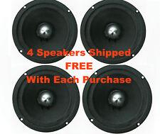 "4 New American Bass SQ-6B 6.5"" Midrange Mid Bullet Speakers 300W 6 1/2 Eminence"