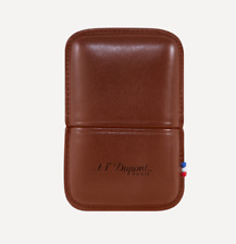 NEW ST Dupont Ligne 2 Lighter Brown Leather Case Holder Luxury 183071