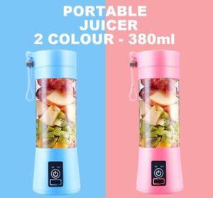 USB Electric Portable Juicer Blender 380ml Fruit Smoothie Maker Shaker Bottle UK