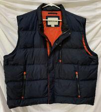 ORVIS Navy Blue Down Puffer Vest XXL Men's 2XL