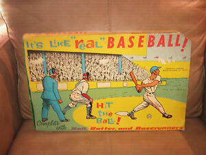 """Like """"Real"""" Hit the Ball Baseball Game by Marx"""