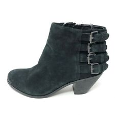 Sam Edelman Womens 6.5 LUCCA Black Ankle Boots Booties Heeled Strappy
