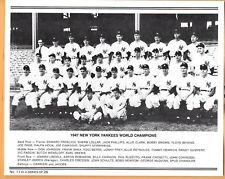 NY Yankees Daily News Reprint Team Photo ~ 2-Sided ~ 1947 Champs ~ Joe DiMaggio