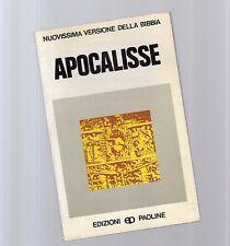 nuovissima versione della bibbia  apocalisse - sfondo arancio - septthird -1970