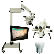 5 Steps Dental Surgical Microscope Led Light Source Amp Accessories Brand New