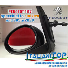 PEUGEOT 107 SPECCHIETTO RETROVISORE COMPLETO dal 2005 al 2009  SX SINISTRO