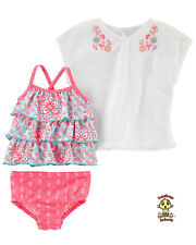 Carter's 3-pc Swim Set 9 mos Tankini design w/ coverup Authentic & Brand New