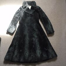 Vintage Beautiful Silver Persian Lamb Fur Lambskin Coat Soft Broadtail Trench