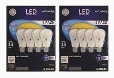 GE LED General Purpose Light Bulbs 8 pack 9 Watt A19 PC61986