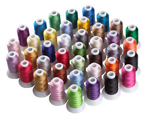 Singer TESION Polyester Embroidery Thread Bobbins Bernina Embroidery and Sewing Machines,1000M // Bobbin Babylock Janome 12 Multicolor Polyester Embroidery Machine Thread for Brother
