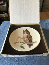 Goebel 1979 5th Edition Mothers Series Plate In Bas Relief Owl And Babies