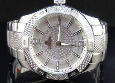 Men's White Gold Finish Genuine Diamond Icetime Supernova Watch 1/4 Ct 44MM