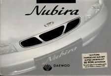 DAEWOO NUBIRA J100 Betriebsanleitung 1997 Handbuch Bordbuch BA
