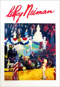 Leroy NEIMAN Presidents Birthday JFK Marilyn Monroe 1989 Poster