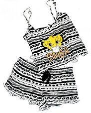 Primark ladies Disney SIMBA The Lion King cropped cami vest shorts set pjs BNWT