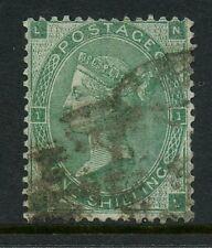 Gb Qv 1862 1/- Green.Nl.Good Used Sg90.cv £250