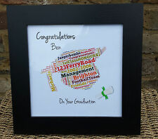 PERSONALISED HANDMADE GRADUATION CONGRATULATIONS WORD ART FRAME MALE FEMALE