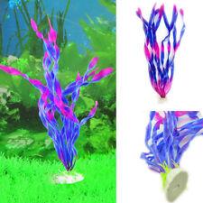 New Fish Tank Decor Green Aquarium Artificial Plastic Water Grass Plant Ornament