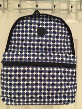 NWT Authentic Tommy Hilfiger Blue White Polka Dot Backpack $98