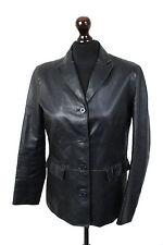 GAP Black Leather Blazer Jacket Coat Size S (8-10)