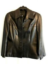 *Gold Duck Leather Collection* Women's Black 100% Leather Jacket (XL)