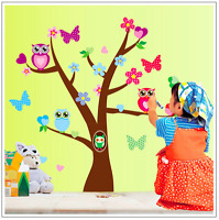 Large Removable Wall Stickers Home Nursery Decor Children Kids Decal Tree Owl