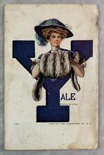 ARTIST EARL CHRISTY 1907 Yale University Postcard New Haven Connecticut